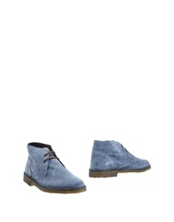 Simone Mariotti Ankle Boots Slate Blue