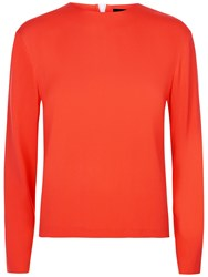 Jaeger Zip Detail Boxy Top Bright Red