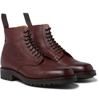 Pebble Grain Leather Boots
