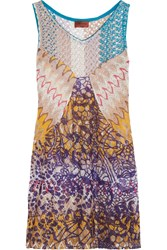Missoni Crochet Knit Coverup Purple