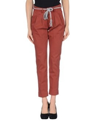 Basicon Casual Pants Brick Red