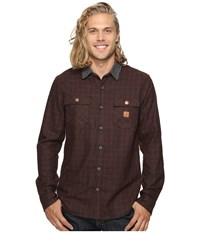 Roark Nordsman Flannel Long Sleeve Shirt Brown Men's Clothing