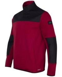 Greg Norman For Tasso Elba Men's Quarter Snap Hydrotech Colorblocked Jacket Only At Macy's Carmine Red