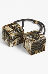 'Cube Bauble' Ponytail Holder Onyx