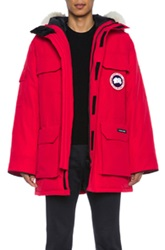 Canada Goose Expedition Poly Blend Parka In Red