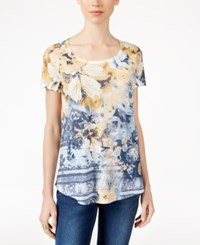 Styleandco. Style Co. Short Sleeve Printed Top Only At Macy's Valentina