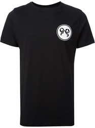 Soulland Logo Print T Shirt Black