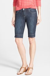 Petite Women's Kut From The Kloth 'Natalie' Denim Bermuda Shorts