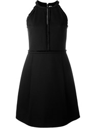 Victoria Victoria Beckham Trim Detail Halterneck Dress Black
