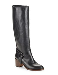 Kate Spade Mabelle Knee High Leather Riding Boots Black