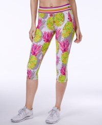 Trina Turk Pineapple Print Cropped Leggings Multi