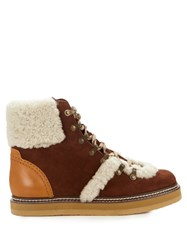 See By Chloe Eileen Suede Ankle Boots Brown