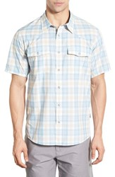 Men's Patagonia 'Bandito' Slim Fit Plaid Short Sleeve Sport Shirt Catalyst Blue