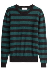 Ami Alexandre Mattiussi Striped Pullover With Baby Lama And Alpaca Wool Stripes