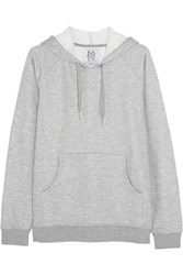Zoe Karssen Jersey Hooded Sweatshirt Gray