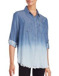 Beach Lunch Lounge Nadia Chambray Button Front Shirt Ombre