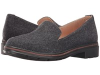 Dr. Scholl's Hollie Original Collection Brushed Nickel Wool Fabric Women's Shoes Black