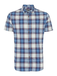 Criminal Oscar Short Sleeved Shirt Blue