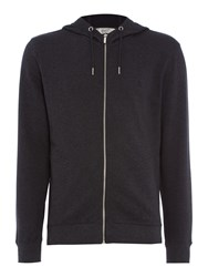 Original Penguin Mouline Loop Back Hooded Sweatshirt Charcoal