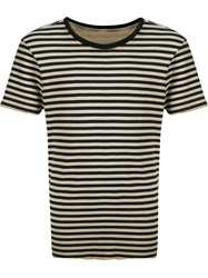 Osklen Striped Reversible T Shirt Nude And Neutrals