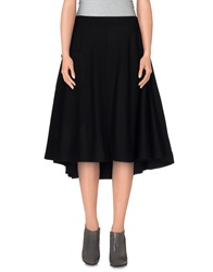Y 3 Knee Length Skirts Black