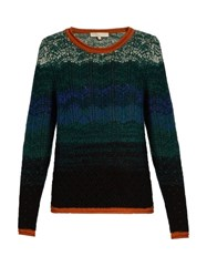 Vanessa Bruno Flavor Eyelet Knit Wool And Cashmere Blend Sweater Multi