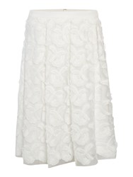 Episode A Line Skirt With 3D Flowers White