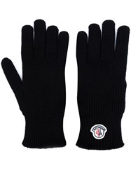 Moncler Logo Plaque Gloves Black