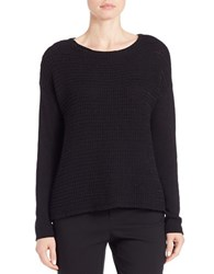 Lord And Taylor Loose Knit Sweater Black
