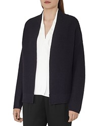 Reiss Evan Ribbed Open Cardigan