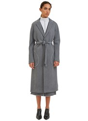 Hockin White Noise Overlocked Seam Trench Coat Grey