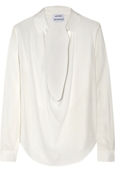 Anthony Vaccarello Washed Silk Blouse