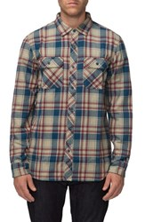 Tavik Men's 'Vincent' Brushed Plaid Flannel Shirt Clay