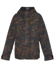 Yeezy Season 1 Hooded Camouflage Print Coat