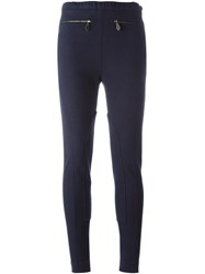 Hermes Herma S Vintage Knee Patch Leggings Blue