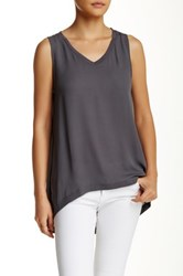 14Th And Union Woven Tank Gray