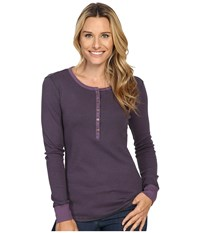 Royal Robbins Kick Back Striped Henley Lilac Women's Clothing Purple