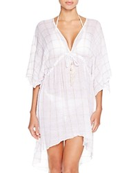 Becca By Rebecca Virtue Easy Breezy Tunic Swim Cover Up White Natural