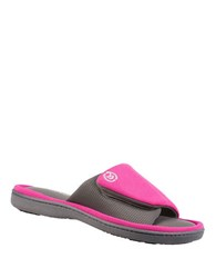 Isotoner Active Matte Satin Sport Slides Very Berry