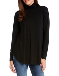 Karen Kane Long Sleeve Turtleneck Tee Black