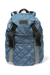 Adidas By Stella Mccartney Quilted Shell And Scuba Backpack Blue