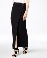 Inc International Concepts Petite Faux Wrap Maxi Skirt Only At Macy's Deep Black