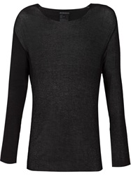 Ann Demeulemeester Sheer Long Sleeve T Shirt Black