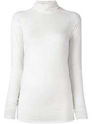Forte Forte Roll Neck Jumper White