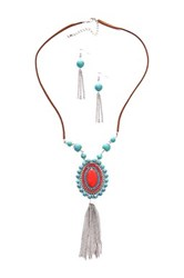 Eye Candy Los Angeles Cowboy Necklace And Earrings Set