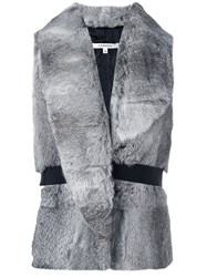 Carven Rabbit Fur Gilet Grey