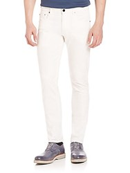 Pal Zileri Solid Slim Fit Jeans White