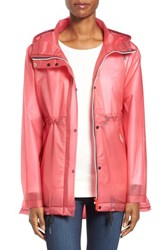 Hunter Women's 'Original Smock' Hooded Drawstring Waterproof Jacket Bright Pink