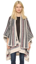 Twelfth St. By Cynthia Vincent Scarf Poncho Red