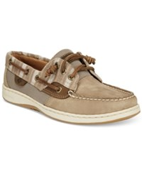 Sperry Ivy Fish Boat Shoes Women's Shoes Taupe Stripe
